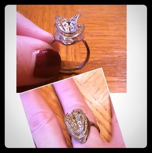 Art Deco Vintage Butterfly 3D Ring